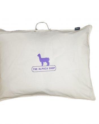 alpaca duvet in alpaca shop bag