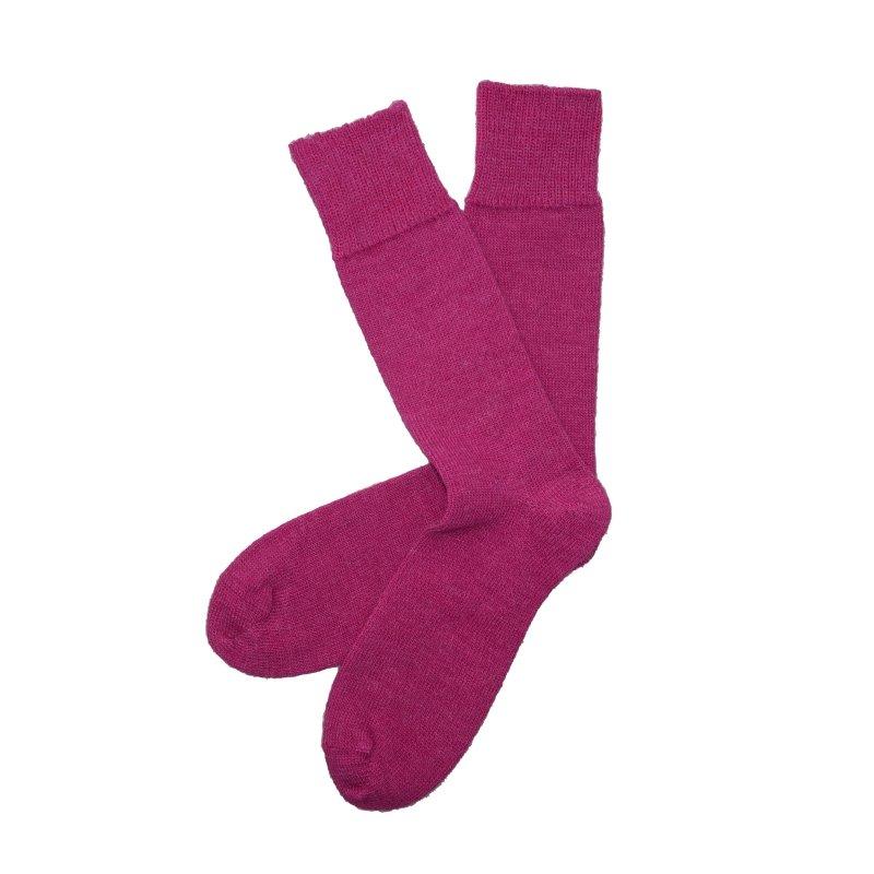 everyday alpaca raspberry sock