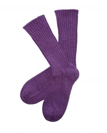 gentle grip damson alpaca sock