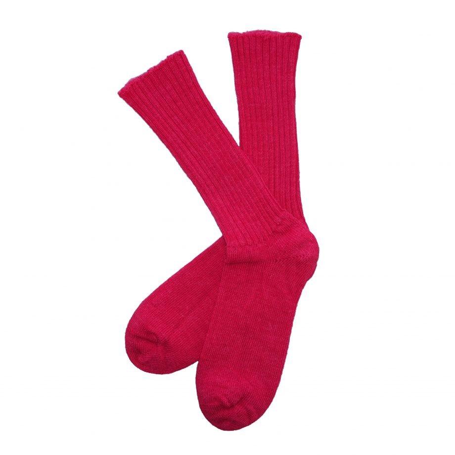 gentle grip red alpaca sock