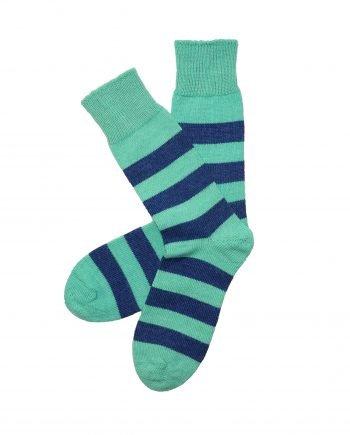 mint midnight everyday stripy alpaca socks