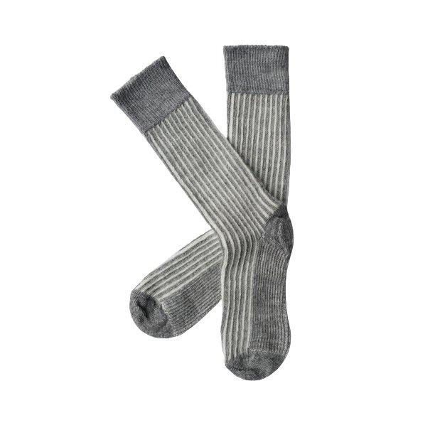 alpaca socks vertical stripe