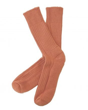 burnt orange boot alpaca walking sock