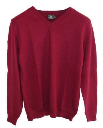 jumper burgundy v neck