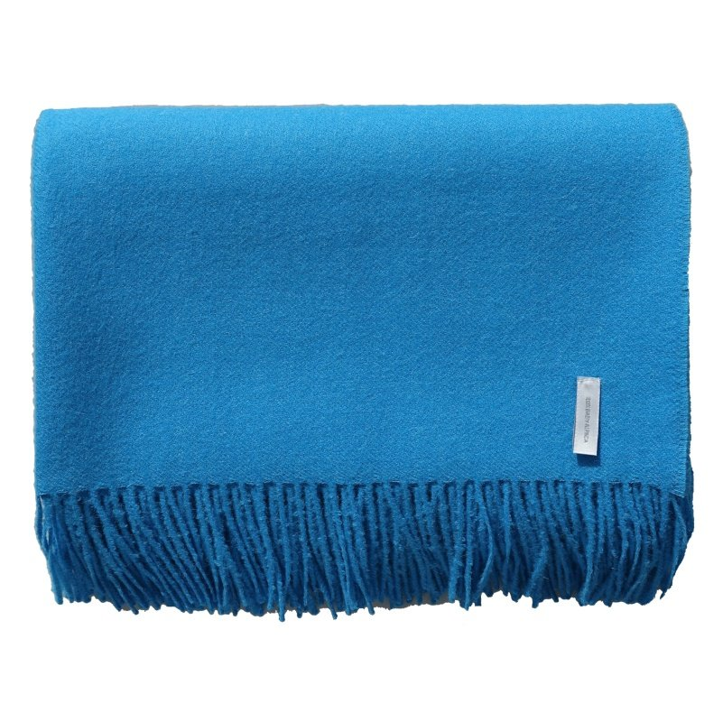plain blue throw