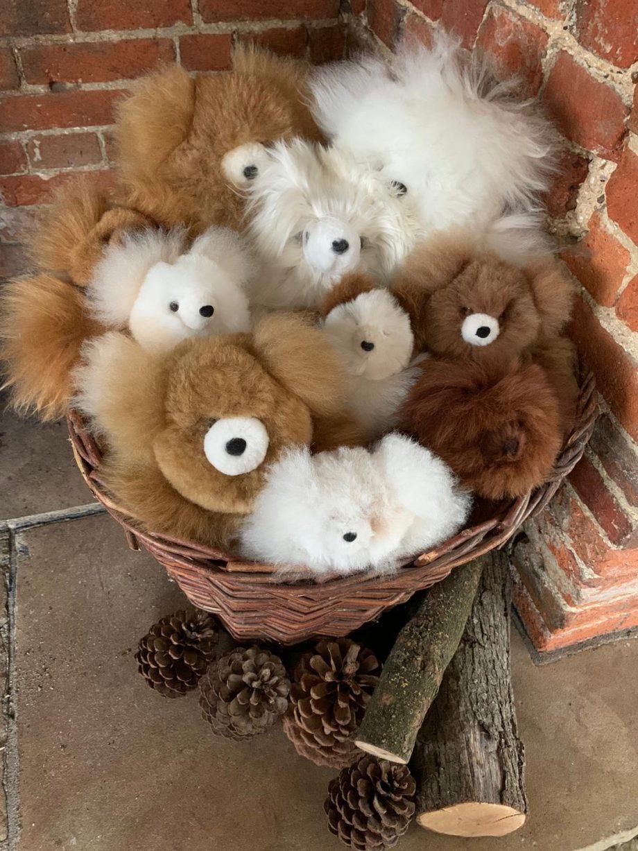 basket of soft toys