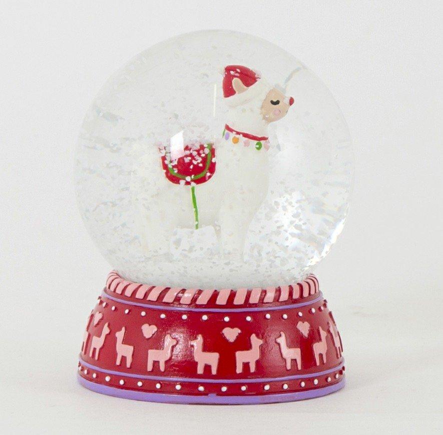 alpaca snow globe